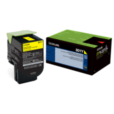 Lexmark 80C10Y0 801Y Yellow Return Program Toner Cartridge for Lexmark