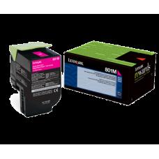 Lexmark 80C10M0 801M Magenta Return Program Toner Cartridge for Lexmark