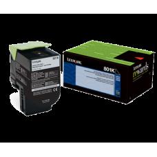 Lexmark 80C10K0 801K Black Return Program Toner Cartridge for Lexmark